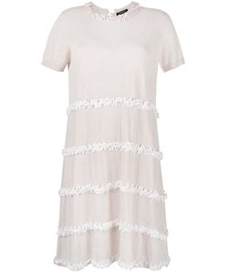 Twin-set | Ruffled Detail Fla Dress Large Linen/Flax/Cotton