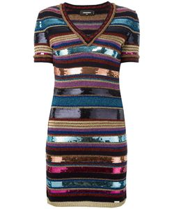 Dsquared2 | Striped Knit Dress Medium Viscose/Wool/Polyimide/Polyester