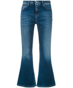 Twin-set | Cropped Fla Jeans 32 Cotton/Polyester/Elastodiene