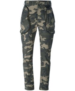 Faith Connexion | Camouflage Trousers Small Cotton