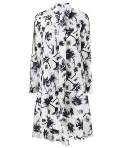 OSMAN | Ladder Sleeve Print Dress