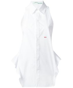 OFF-WHITE | Ruffled Trim Sleeveless Shirt Size