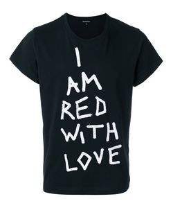 Ann Demeulemeester | Printed Text T-Shirt Large Cotton