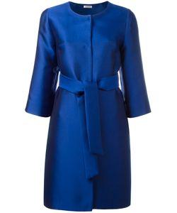 P.A.R.O.S.H. | Collarless Midi Coat Medium Polyester/Silk