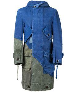GREG LAUREN | Длинная Лоскутная Джинсовая Куртка