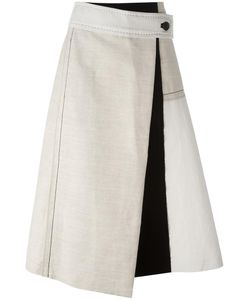 SportMax | Mid-Rise A-Line Skirt 42 Linen/Flax/Viscose/Cotton/Polyester