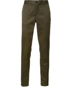 Givenchy | Star And Stripe Trimmed Trousers 44 Cotton