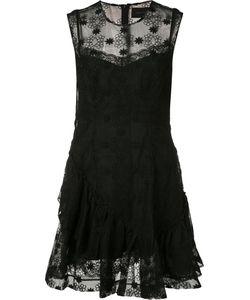 Simone Rocha   Sheer Embroidered Dress Size 10 Polyester/Viscose/Polybutylene