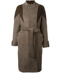 Diesel | Dislocated Fastening Belted Coat Xs Wool/Polyester/Cotton