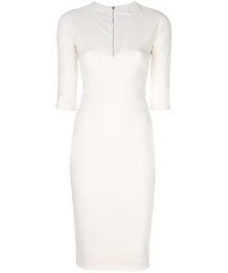 Victoria Beckham | Приталенное Вечернее Платье С V-Образной Горловиной