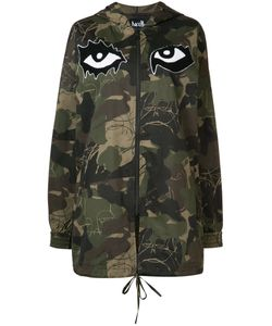 HACULLA | Camouflage Printed Hooded Coat Size Xxs