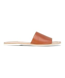Carshoe   Car Shoe Wide Strap Sandals 36.5 Calf Leather/Leather/Rubber