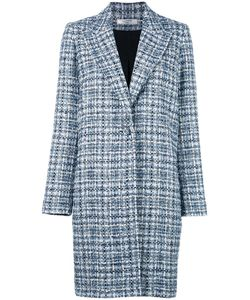 Lanvin | Tweed Singled Breasted Coat 36 Cotton/Silk/Viscose/Polyamide