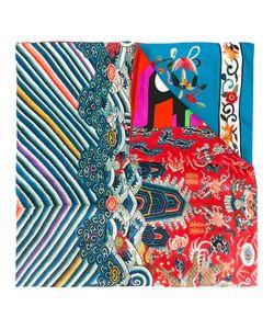 PIERRE-LOUIS MASCIA   Striped Print Scarf Silk/Cotton