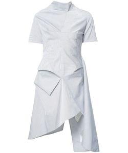 J.W. Anderson | J.W.Anderson Striped Asymmetric Dress 6 Cotton/Spandex/Elastane/Polyamide
