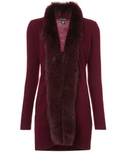 Sofia Cashmere   Fur Trim Cardigan Women