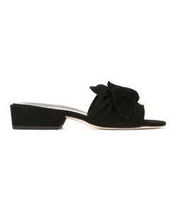 Stuart Weitzman | Knot Front Sliders 36.5 Calf Leather/Leather