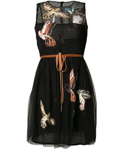 Red Valentino | Bird Patch Sheer Dress 40 Polyester