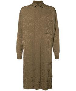 UMA WANG | Jacquard Coat Medium Cupro/Viscose/Virgin Wool