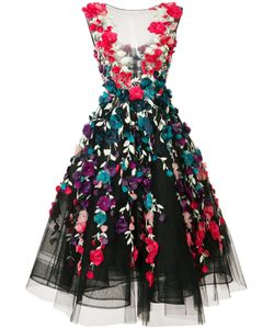 Marchesa | Платье С Цветочной Вышивкой