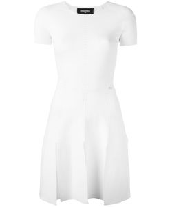 Dsquared2 | Knit Detail Dress Medium Polyester/Viscose/Silk