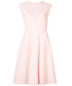 Lela Rose | Перфорированное Платье-Миди С Короткими Рукавами