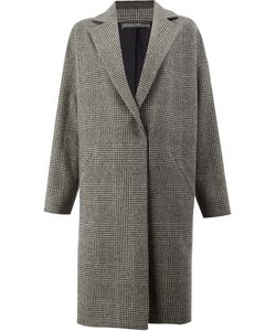 32 PARADIS SPRUNG FRERES | Checked Coat Women Silk/Cashmere/Lambs