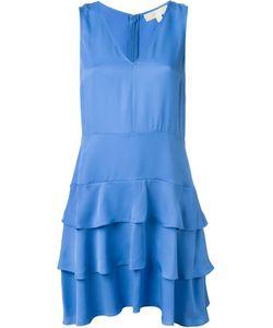 Michael Michael Kors | Ruffled V Neck Dress