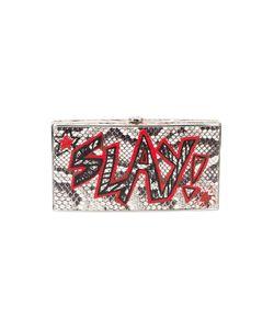 Elisabeth Weinstock | X Re/Done Graffiti Box Clutch Leather/Metal