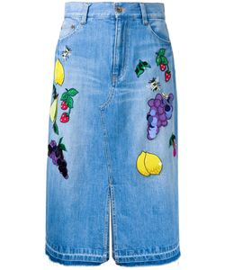 Muveil | Patches Straight Skirt