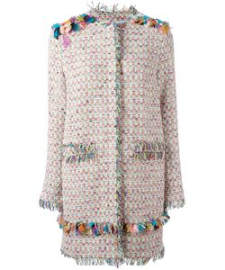 MSGM | Embroidery Detail Coat 40 Cotton/Polyamide/Acrylic Fibre
