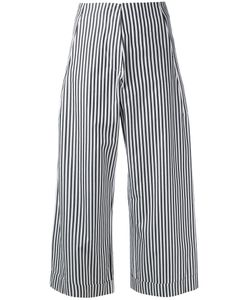 Federica Tosi | Striped Poplin Cropped Trousers Size Medium