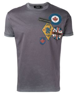 Dsquared2 | Logo Patch Print T-Shirt Small Cotton