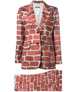 MOSCHINO VINTAGE   Brick Print Trouser Suit Size