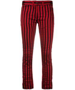 Ann Demeulemeester | Vertical Stripe Trousers 36 Polyester/Cotton/Silk