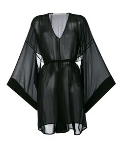 Isabel Benenato | Flared Sleeves Sheer Dress 44