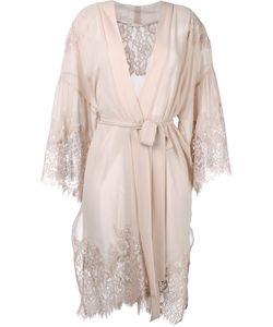Gold Hawk | Lace Trim Wrap Dress