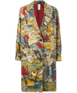Antonio Marras | Printed Single Breasted Coat 38 Cotton/Polyamide/Viscose/Glass