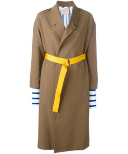 Erika Cavallini | Ribbed Laye Cuffs Coat 38 Cotton/Virgin