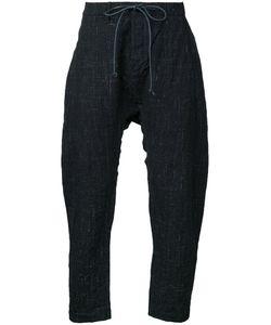 KAZUYUKI KUMAGAI | Drawstring Cropped Trousers 3 Cotton/Linen/Flax/Wool/Hemp