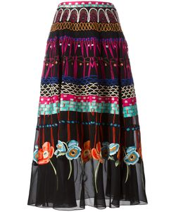 Temperley London | Printed Pleated Skirt 14 Silk/Spandex/Elastane