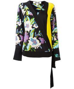 Diane Von Furstenberg | Print Wrap Blouse Small