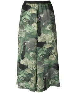 Antonio Marras | Tree Print Cropped Trousers 1 Polyester/Viscose