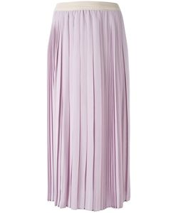 Agnona | Pleated Skirt Medium Silk/Cotton/Spandex/Elastane