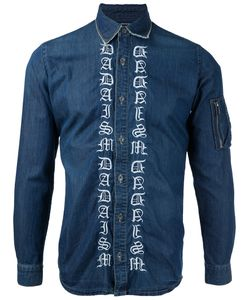 CHRISTIAN DADA | Embroidered Denim Shirt Size 46