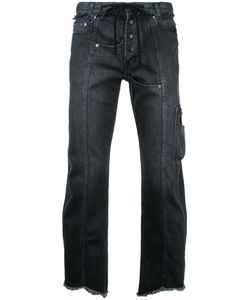 CHRISTIAN DADA   Raw Hem Cropped Jeans Size 48
