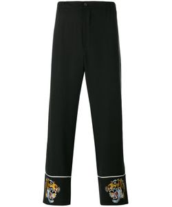 Laneus | Tiger-Embroidered Trousers 46