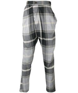 Vivienne Westwood | Man Checked Drop-Crotch Trousers Size 52