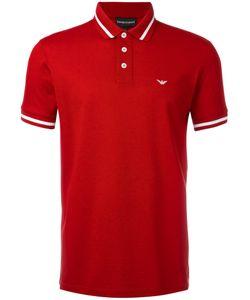 Emporio Armani   Striped Trim Polo Shirt Size Small