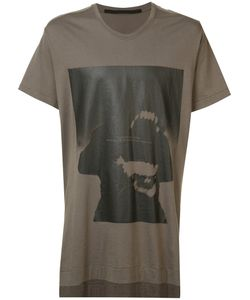 JULIUS | Text Print T-Shirt 3 Cotton/Modal